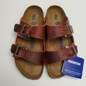 Birkenstock Arizona Earth Red Leather Sandals